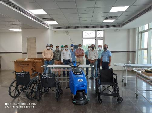 HR-Tech startup, iXceed Solution donates mobility aid devices and cleaning machines to New Medical College in Kota