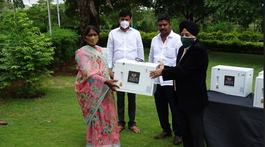 Indus International School Pune gifts close to 5 lakhs worth of Suraksha boxes to the underprivileged in its campus periphery in association with NextGenInnov8