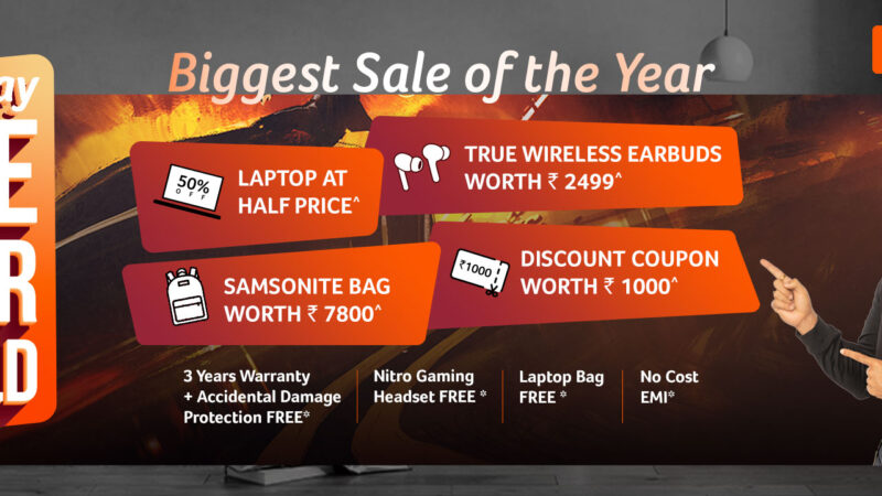 Announces the biggest offer of the year on wide range of Acer laptops, tablets, monitors and Air Purifier