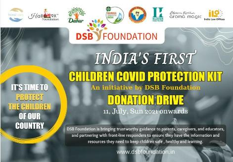 India's first-children covid protection kit- free distribution of kits to underprivileged children