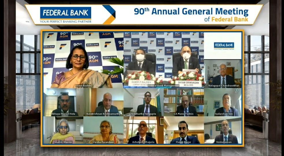 90th Annual General Meeting of Federal Bank Conducted