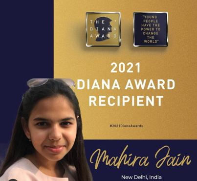 Outstanding young hero in New Delhi receives award in memory of Princess Diana