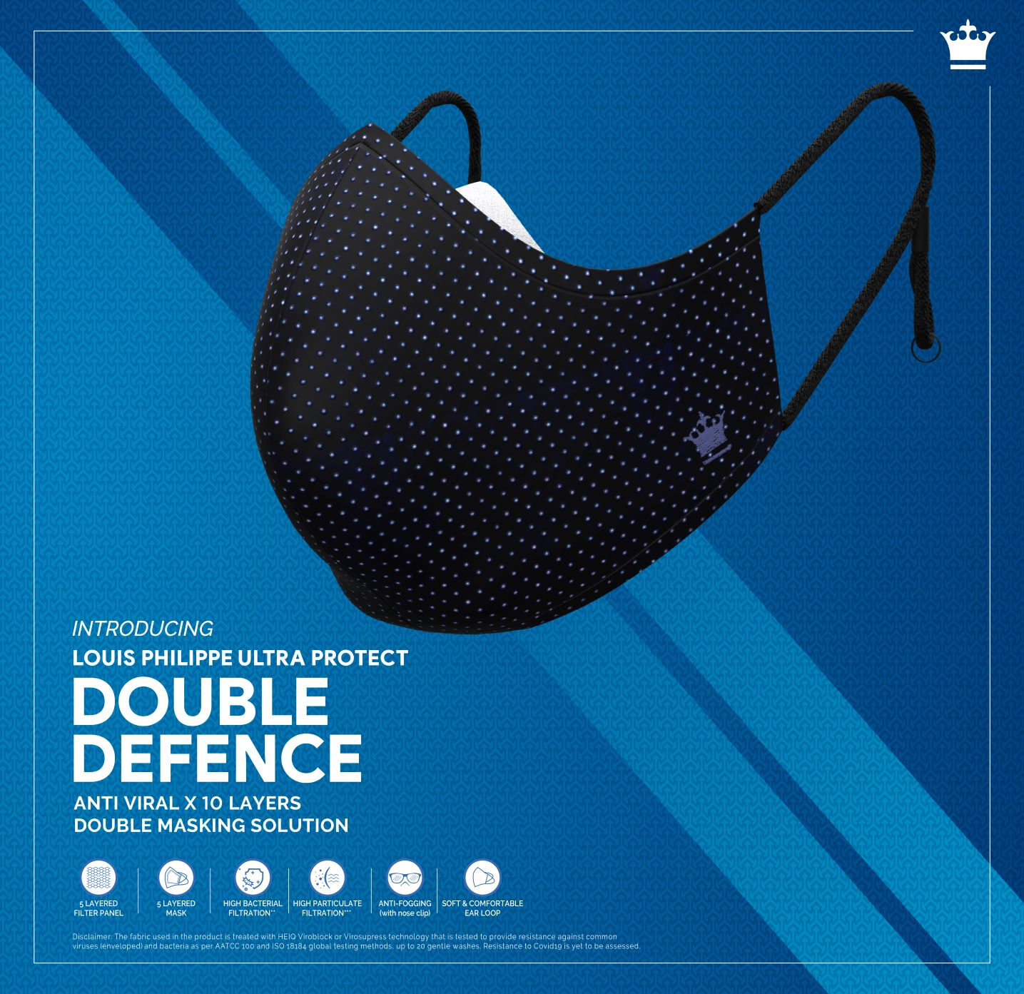 Louis Philippe launches UltraProtect Double Defence Mask