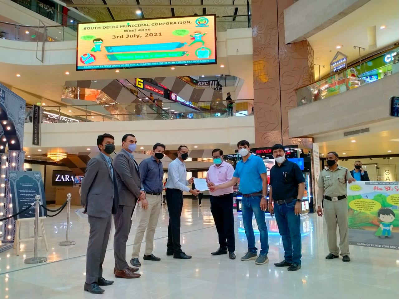 Pacific Mall & SDMC initiate 'Say No to Plastic Campaign' on Int'l Plastic Bag Free Day