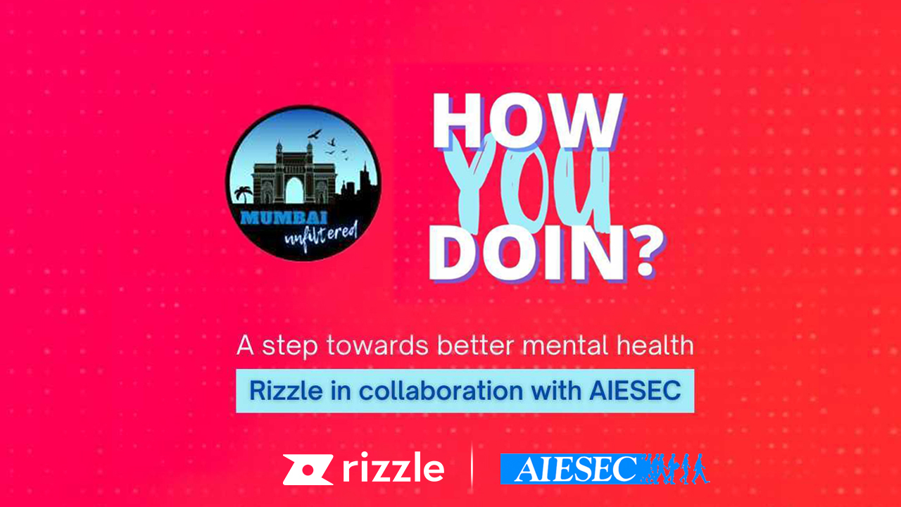 Rizzle partners with AIESEC Mumbai to promote mental health awareness