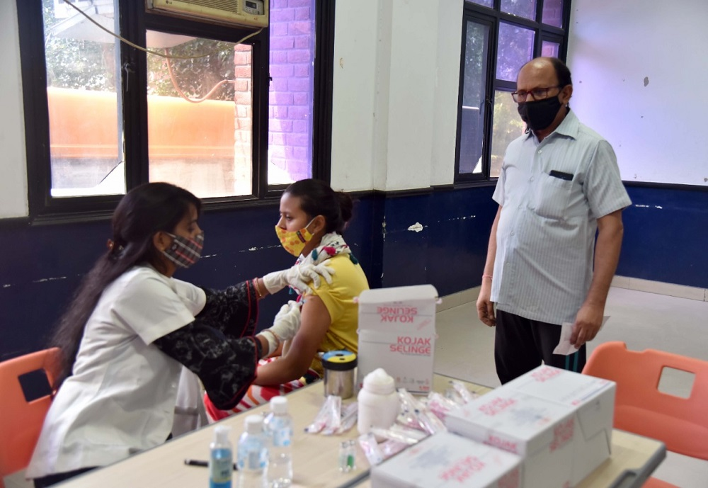 Seth Anandram Jaipuria School, Vasundhara, Ghaziabad joined hands with the UP Government to hold a Free Covid Vaccination Drive