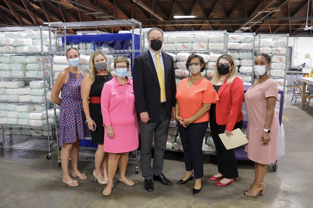 County Executive Dr. Sam Page Tours St. Louis Area Diaper Bank