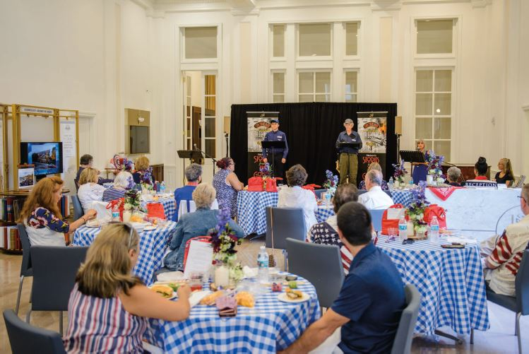 Independence Day Celebrated in Style with Indoor Picnic  and Old-time Radio Show at the Scientology Information Center