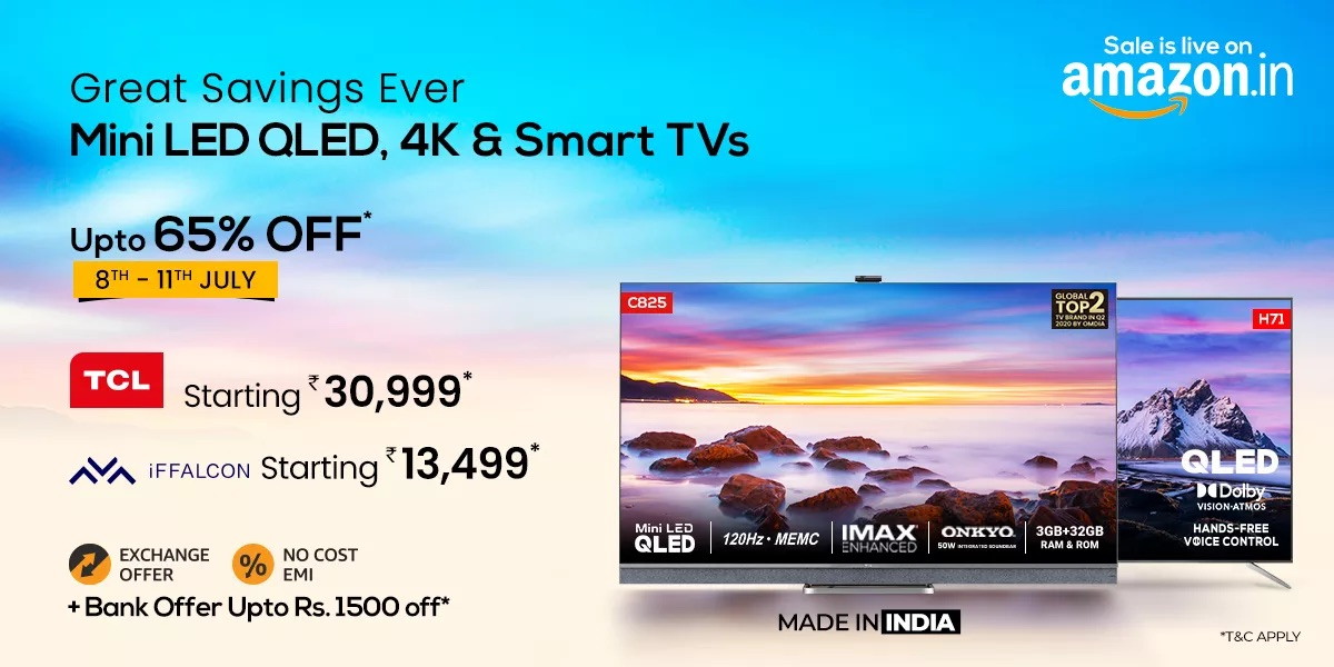 Save More with Exciting Bank Offers on TCL and iFFALCON TVs on Amazon