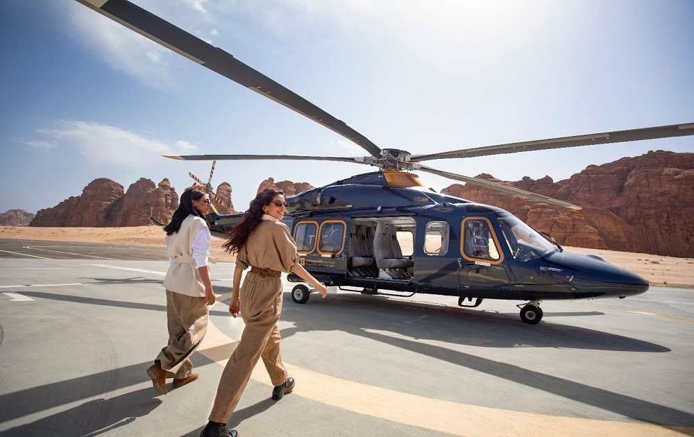 Helicopter tours showcase extraordinarily rich geological heritage of AlUla