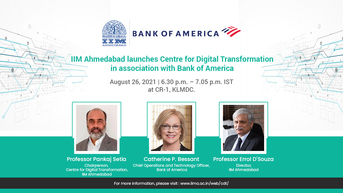 IIM Ahmedabad and Bank of America partner to set up a Centre for Digital Transformation