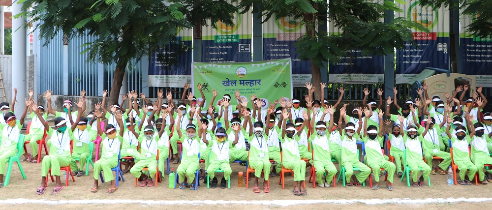 Inspired by Olympics glory, children of construction workers take part in iMpower's 'Khel Malhar' competition on National Sports Day