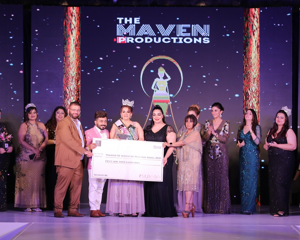 Dazzling 'Maven Ms Plus Size India' pageant held