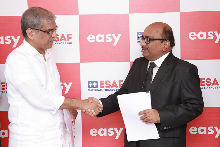 ESAF Small Finance Bank & Mortgage-Tech Start-up Easy enter into a strategic partnership for mortgage as a service (MaaS)