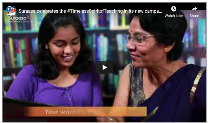 On this Teacher's Day, ed-tech platform Suraasa celebrates the #TimelessSpiritofTeaching in its new campaign